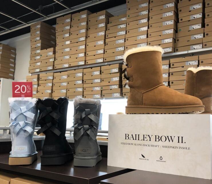 c665dee5682d Women Designer Boots Winter Australia Classic snow boots leather Baileyi  bowknot women's bailey two bow Knee womens shoe
