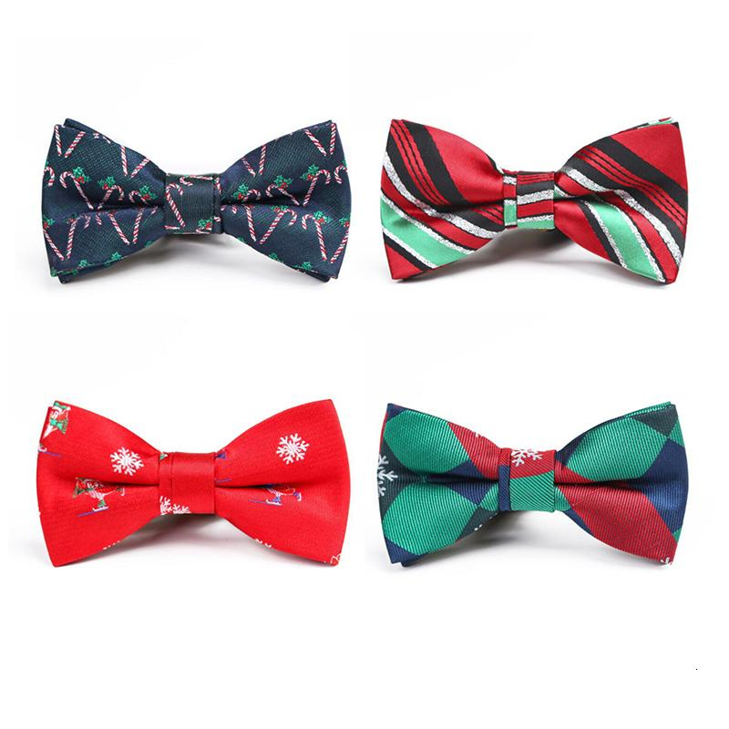 Christmas Bow Tie Children Snowflake Christmas Tree Pattern Red Bowtie For Boys Kids Gifts Bow Ties Size 9cm*4.5cm