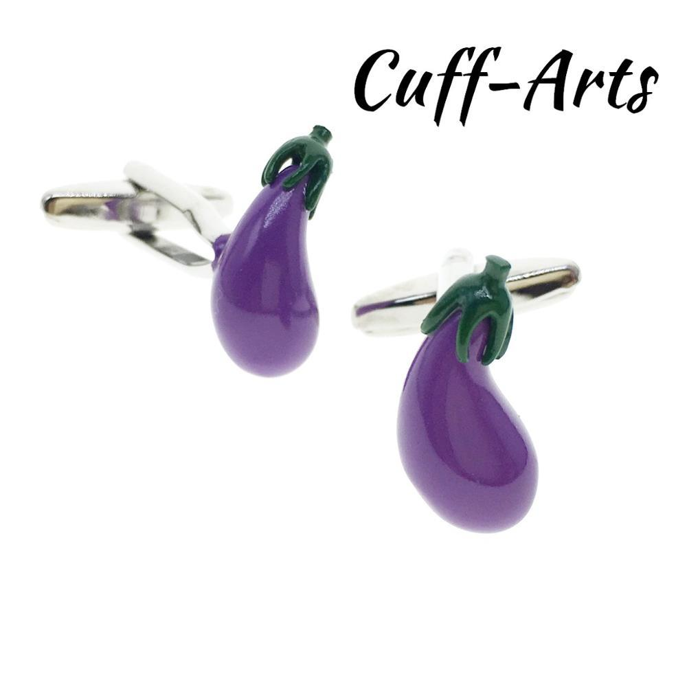 Cufflinks for Men Fun Aubergine Cufflinks Gifts for Men Gemelos Les Boutons De Manchette by Cuffarts C10404