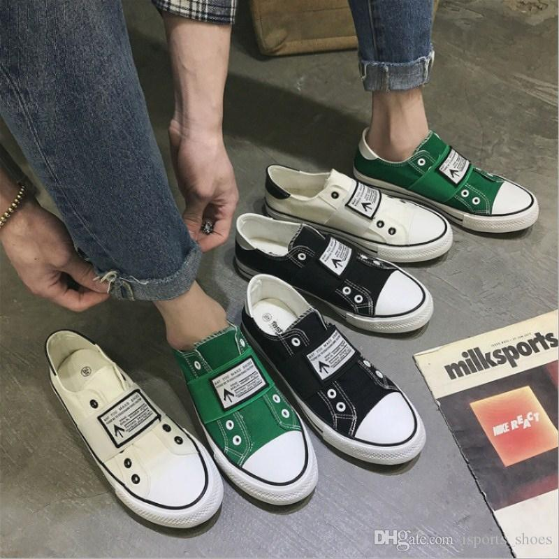 8d2645a066a 2018 Summer New Best Selling Breathable Men S Canvas Shoes Korean Casual And  Comfortable Trend Student Flat Canvas Shoes Men  55908 Wedge Shoes Walking  ...