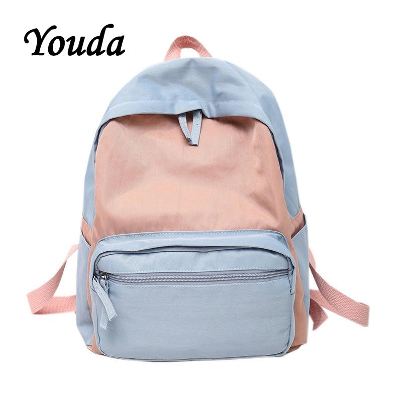 Luggage & Bags Harajuku Street Fashion School Bag Pack Women Japanese Korean Style Casual Student Backpack Girls Boys Gray Black Pink Knapsack