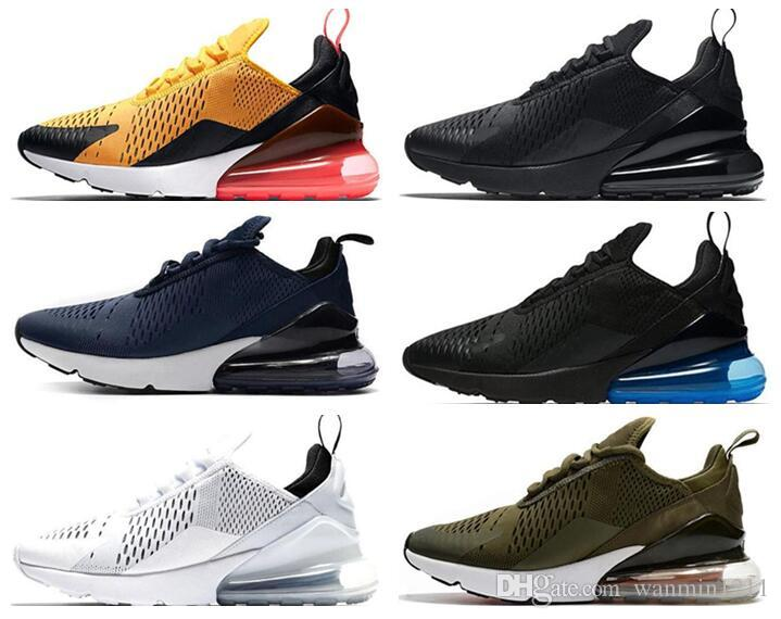 Nike air max 270 shoes 27 Cushion Sneaker Designer Zapatos casuales 27c Trainer Off Road Star Iron Sprite Tomate Hombre General Parra Punch Foto 27s Hombres Mujeres 36-45
