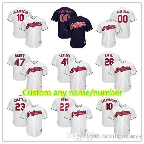 Cleveland Cutsom Jersey 26 Mike Napoli 26 Austin Jackson 41 Carlos ... 66cac7ca2