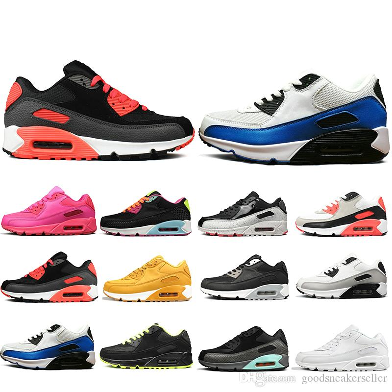 New Arrival 90 Running Shoes For Men Women Triple Black White Red oreo jogging Outdoor 90s Mens Trainers Designer Sports Sneakers Size 36 45