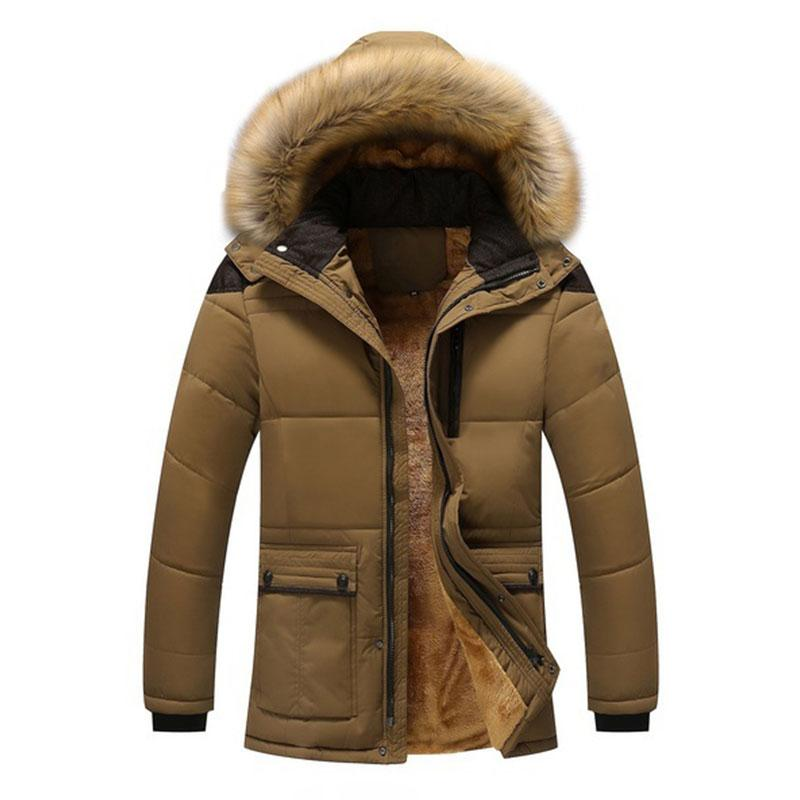 Winter Jacket Men Plus Size 3XL Thicken Warm Cotton-Padded Jackets ... d3f3eee9f