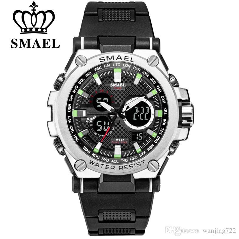 3b987d93a 2019 New SMAEL Men Outdoor Sports Watches Top Brand Military Quartz Watch  Men Waterproof S Shock Clock Multifunction Digital Wristwatches Bling  Watches ...