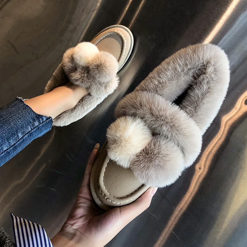 364cb02fedd46 Acheter Bottes D hiver Femmes Nouvelle Arrivée Chaussons En Fourrure  Chaussures Femme Style Coréen Bottes De Neige Coton Botas Chaud Femme  Moelleux ...
