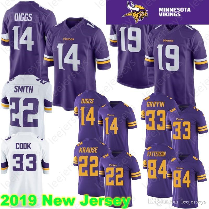 more photos 68e9b ebc9c Minnesota 19 Adam Thielen vikings Jersey 14 Stefon Diggs 22 Harrison Smith  33 Cook 29 Earl Thomas 84 Cordarrelle Patterson 100% Stitched