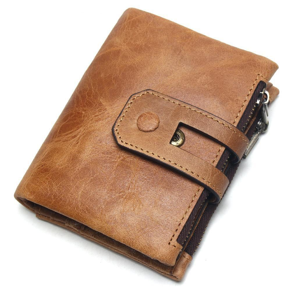 06584f179bb1 2019 New Genuine Crazy Horse Leather Mens Wallet Man Cowhide Cover Coin  Purse Small Brand Male Credit id Multifunctional Walets Online with   52.1 Piece on ...