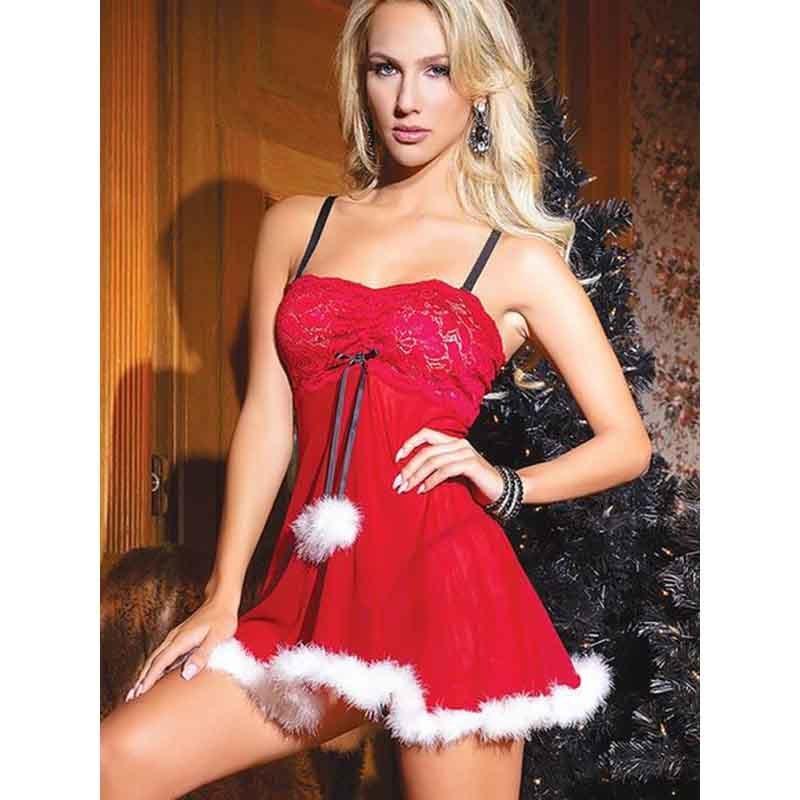 4529cb324e Sexy Santa Costume Lace Lingerie Sexy Hot Erotic Underwear Women Babydoll  Dress Nightwear Langeri Negligee Porn Sex Costumes C18112301 Silk  Nightdress ...