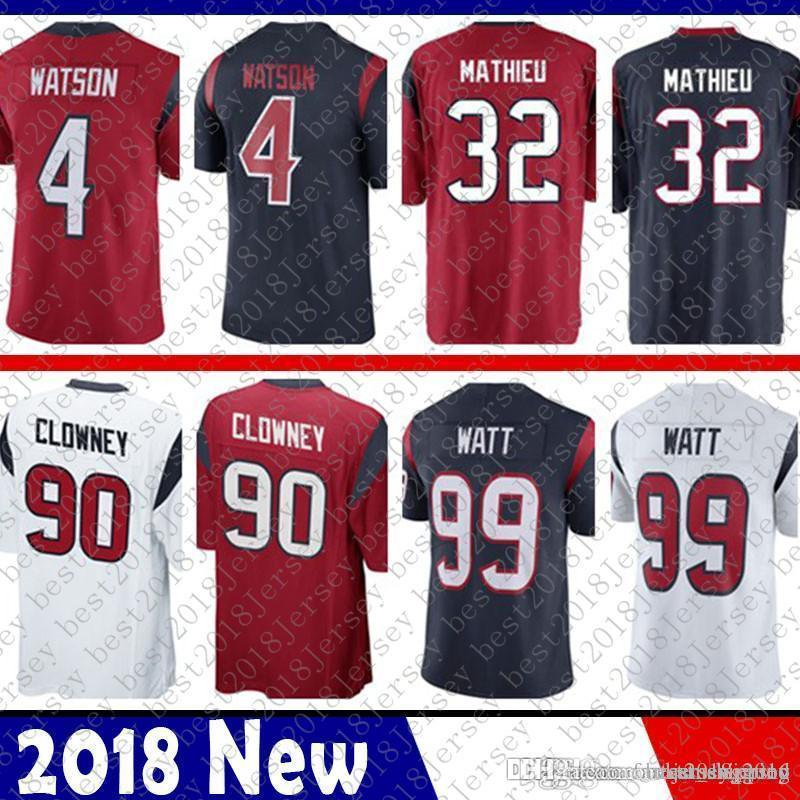 2019 Limited Houston 4 Deshaun Watson Jersey Texans 32 Tyrann Mathieu 90  Jadeveon Clowney 99 J.J. Watt Football Jerseys From Tukameng2016 698c7b931