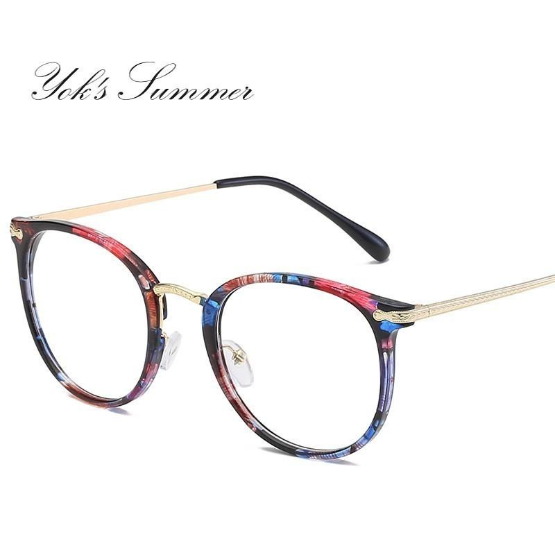 75480f572e2 Yok s Metal Glasses Frame Men Women Eyeglasses 2019 New Brand ...