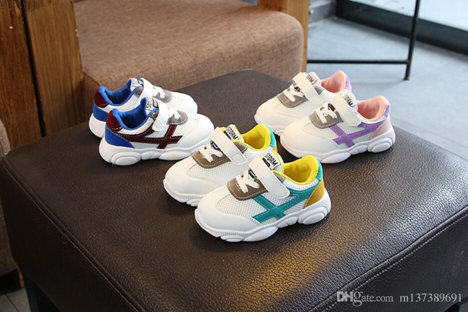 Spring 2019 new cubs children's shoes children net cloth sneakers boys and girls baby daddy shoes wholesale