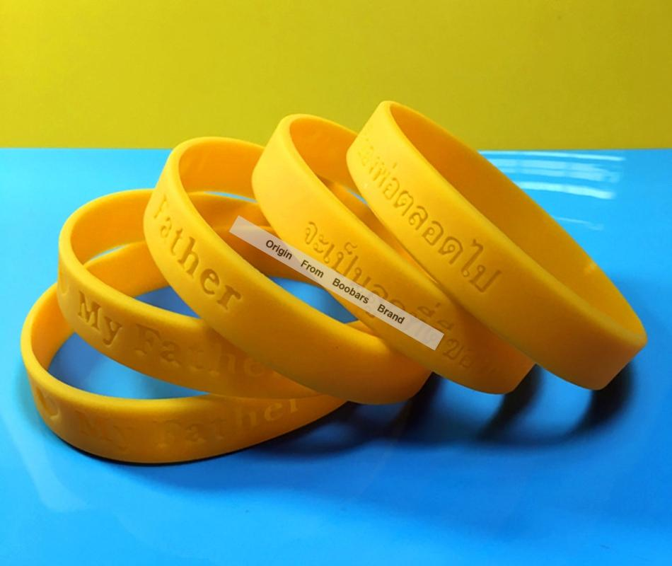 aaa9f87700aa3 Custom Yellow Wristband,Logo Embossed Cheap Silicone Bracelet,Fashion Men  Women Adult Promotion Bands 100pcs