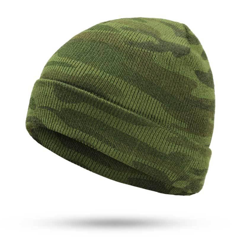 2019 Winter Hats Camouflage Beanie Hat Man Knitted Beanies For Men Green  Bonet From Duriang e0c4b1176ca