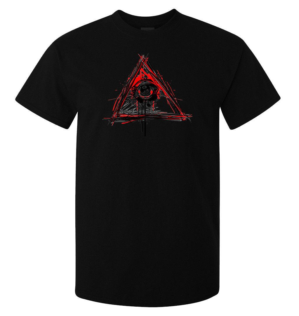 39e733f9612 Illuminati All Seeing Eye NWO Watches New World Order Men S T Shirt Black  Top Men Women Unisex Fashion Tshirt Geek T Shirts Mens Formal Shirts From  ...