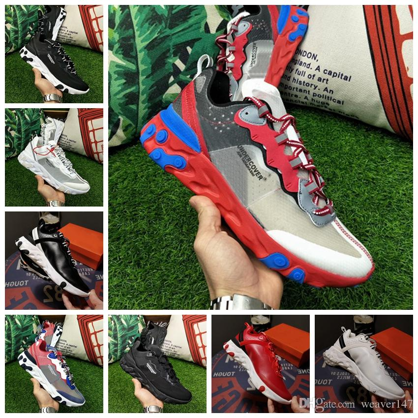 superior quality 513ad af31b Compre Nike Air Max Epic React Element 87 55 Undercover Men Running Shoes  For Women Diseñador Sneakers Sports Mens Trainer 55s 88s Sail Light Bone  Sneakers ...