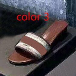tallone di modo Media pantofole spiaggia di estate donna di lusso Alphabet Pantofole Designer sandali ruvido panno lavorato a maglia donna ricamo scarpe 35-42