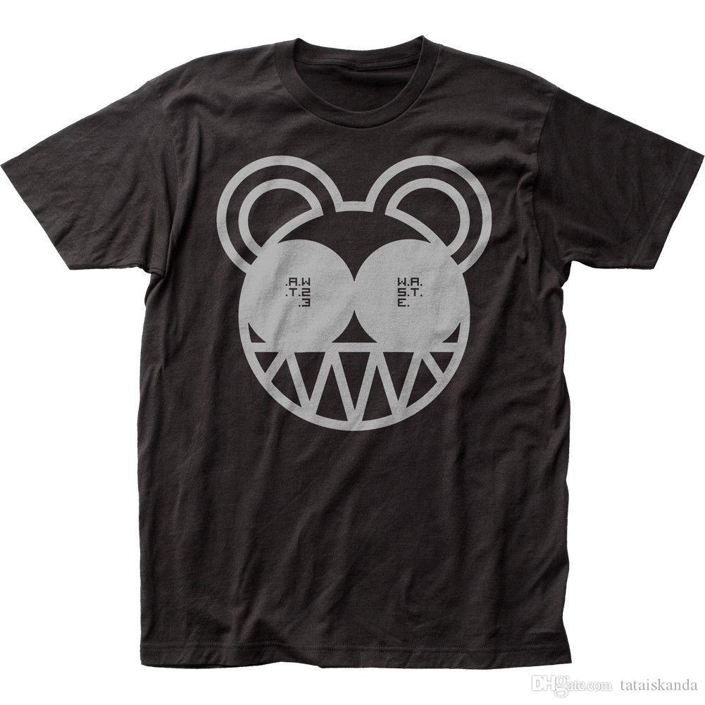 495fe261b Compre Nuevo Y Auténtico Oso Radiohead HECHO ORGÁNICO En EE. UU. Camiseta  De Algodón Suave S M L X 2X A  10.36 Del Tataiskanda