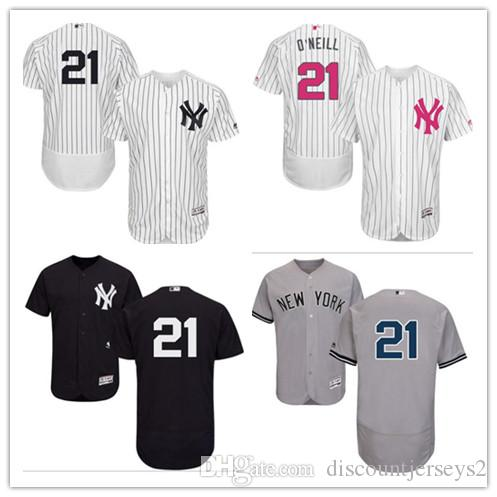 half off 0e35b f6e4d 2019 can Yankees Jerseys # 21 Paul O Neill Jerseys men#WOMEN#YOUTH#Men s  Baseball Jersey Majestic Stitched Professional sportswear