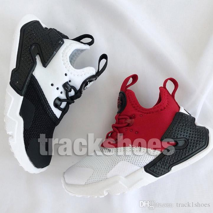 pretty nice 56461 46b49 2019 New Kids Huarache Boys Girls Shoes For Baby High Quality Children  Multi Black White Trainers Sneakers Ultra Run 6 Outdoor Shoes EUR 22 35  From ...