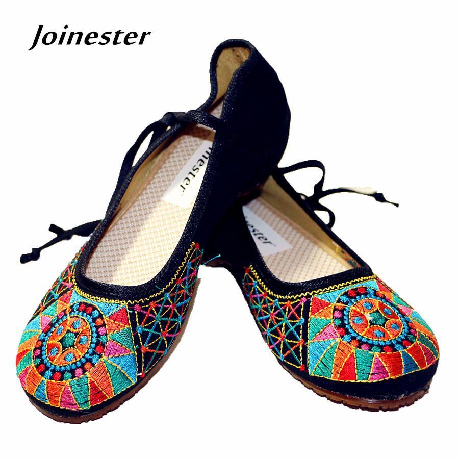 02dce7804 Compre Sapatos De Vestido Totem Chinês Bordado Primavera / Outono Das  Mulheres Interna Altura Aumento Bombas Sapato Vintage Moda Sapato Casual  Tira No ...