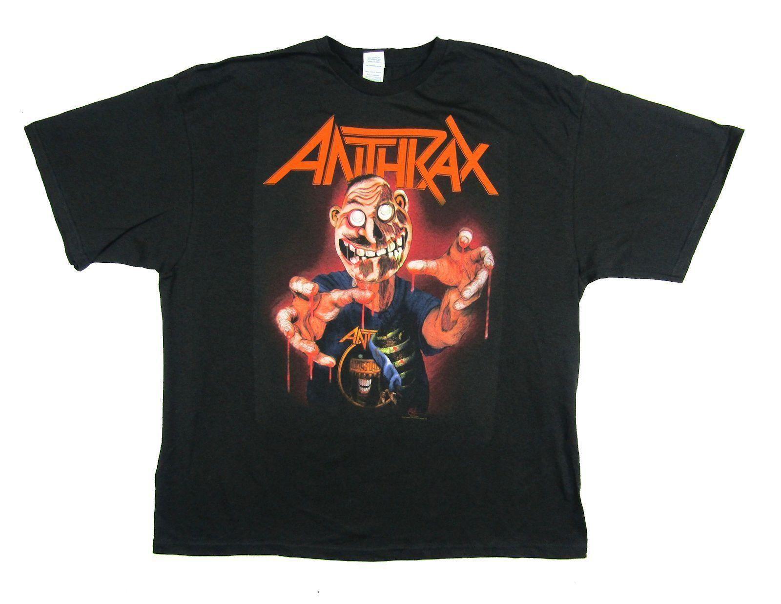 Mens Designer T Shirts Shirt Anthrax Bloody Hands Not Man Zombie