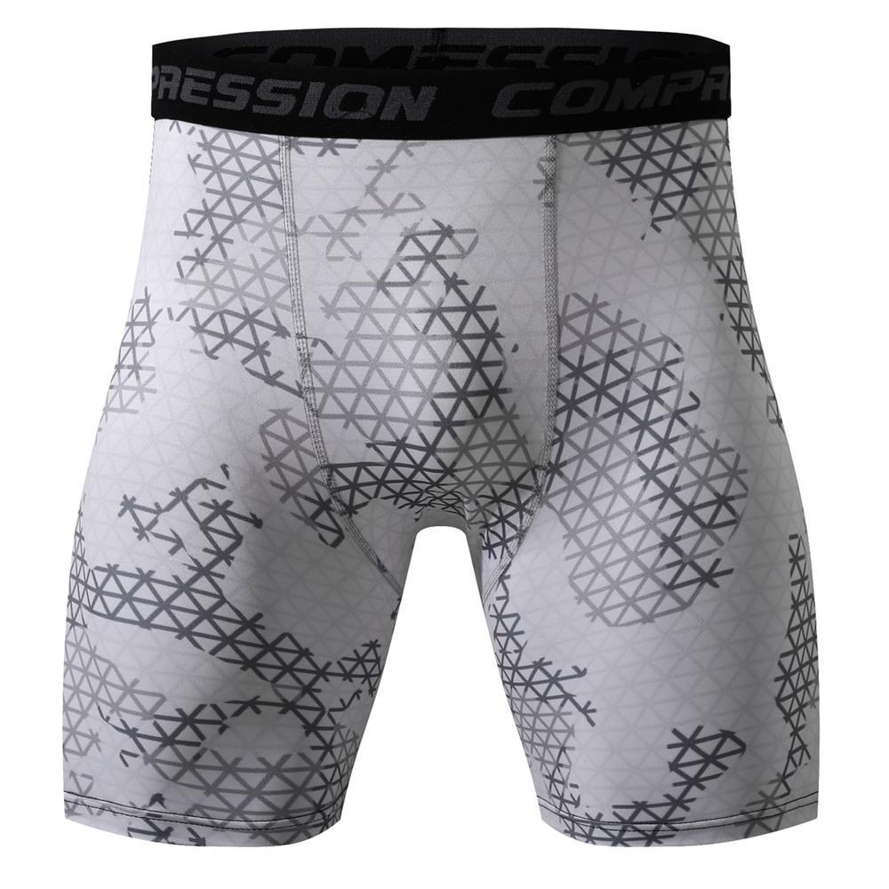 Camouflage Skinny Men's Sports Gym Compression Wear Under Base Layer Shorts Camo Tactics Athletic Tights Running Jogging Shorts