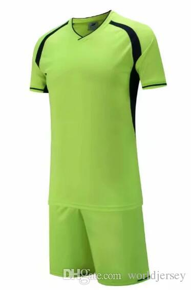 new product a4044 ee610 New arrive Cheap high quality soccer jersey soccer Football uniform kit No  Brand uniforms kit Custom Name Custom LOGO green