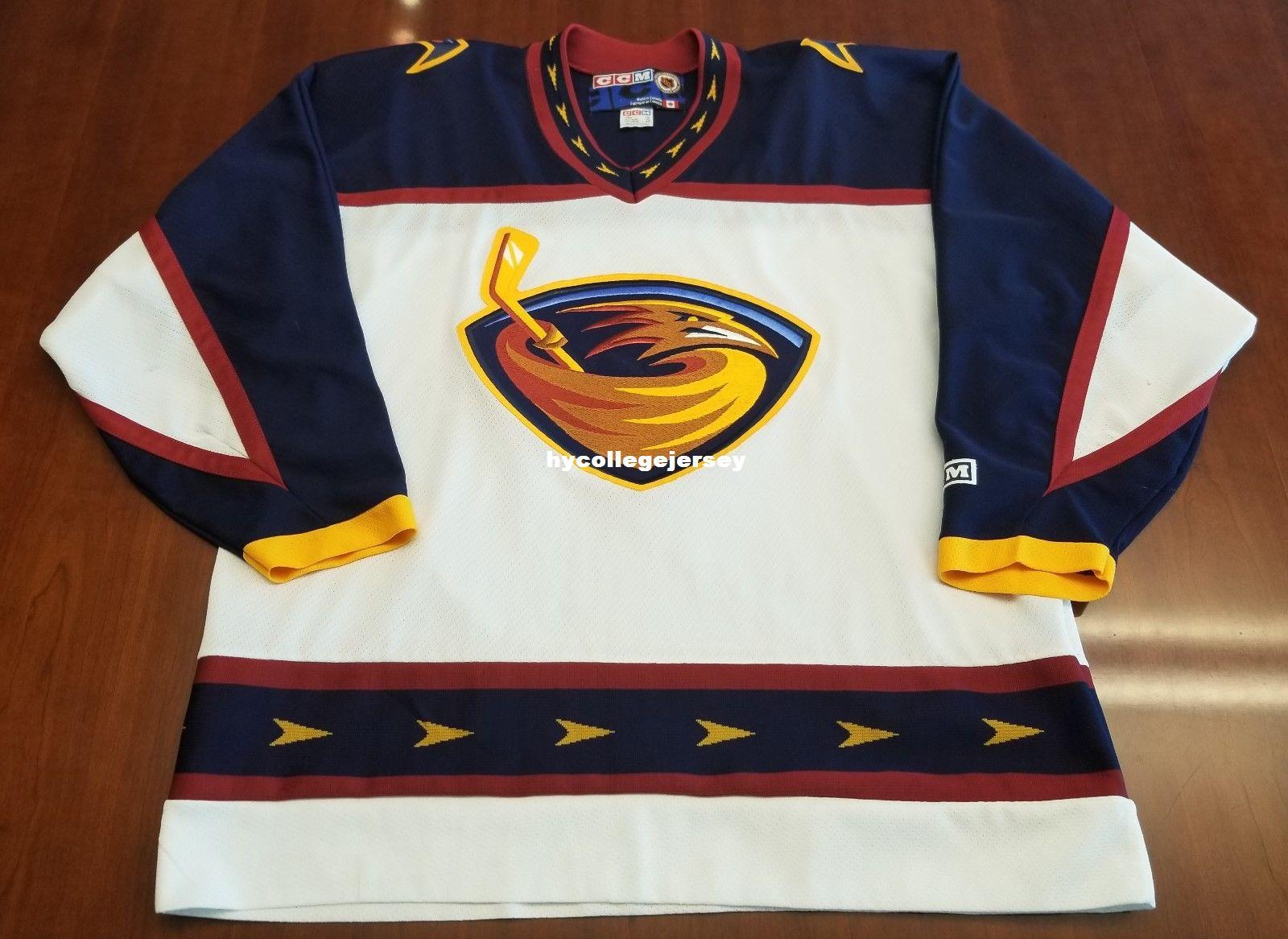 2018 Wholesale Custom Atlanta Vintage CCM Cheap Hockey Jersey White Mens Retro  Jerseys From Hycollegejersey c8a83e56c