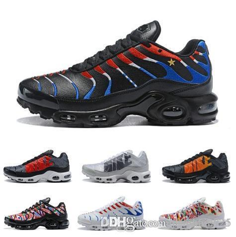 watch 459e1 b157e Acheter Mercurial TN Plus Hommes Occasionnels Chaussures Pour Hommes Casual  Coupe Du Monde Entraîneurs Femmes Multicolores Sport Athlétique En Plein Air  ...