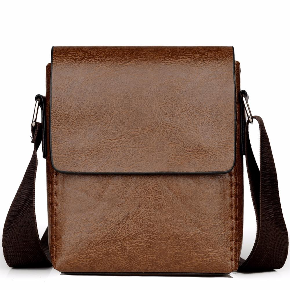 Crossbody Bags For Men PU Leather Shoulder Bag Male Casual Simple Knitting Messenger Bags Men's High Quality Business Hand Bag