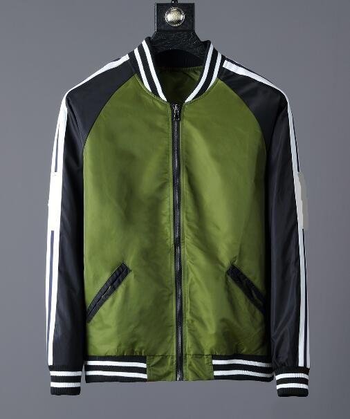 700b6d1cc NEW Fashion Jacket Casual Windbreaker Long Sleeve Cotton Blend Size M 3XL  Mens Zipper Pocket Animal Flower Jackets Green Coat Black Coats And Jackets  Mens ...