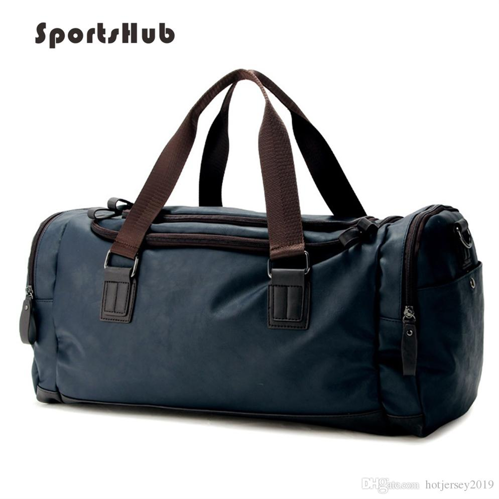 65bc3a55af 2019 SPORTSHUB Top PU Leather Men S Sports Bags Gym Bags Classic Sports  HandBag Fitness Travel Workout Shoulder Bag SB0029  29757 From  Hotjersey2019