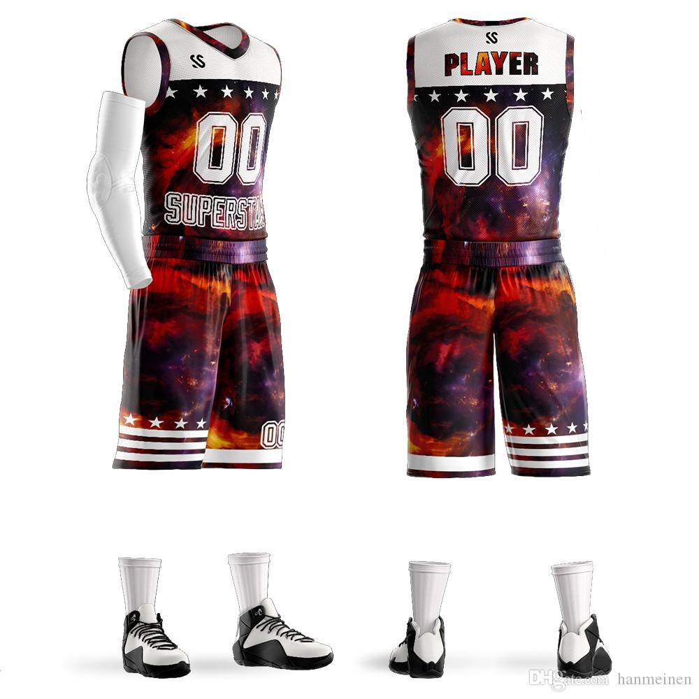 2019 Mens Kids Custom Popular Design Basketball Jersey Youth Basketball  Uniform From Hanmeinen 3d0a0a91c