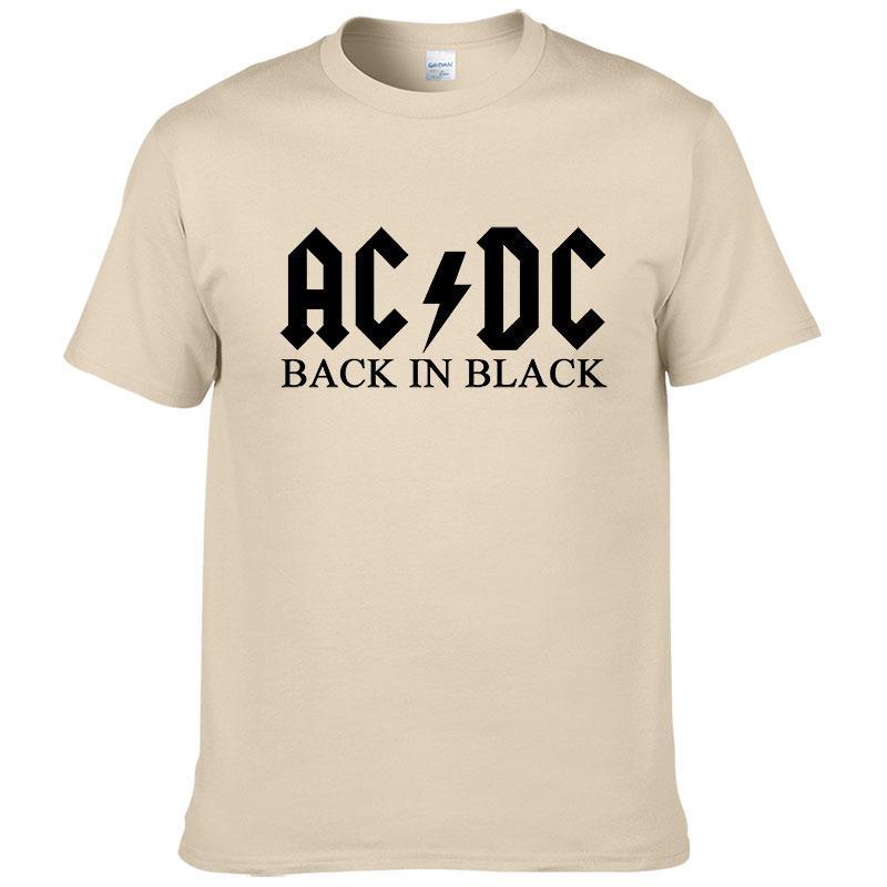 8fbd8016b Compre Rock Band Ac Dc T Shirt Hombres 2019 Verano 100% Algodón ...