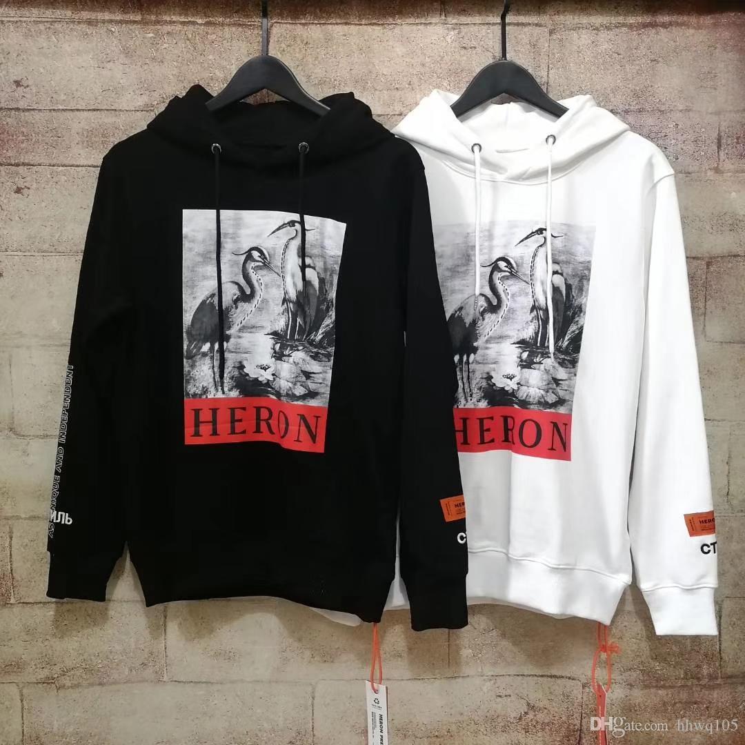 New Heron Preston Hoodie Herren Streetwear Schwarz Weiß Oversized Hoodie Kapuzenpullover Hip Hop Heron Preston Sweatshirts NCI0819