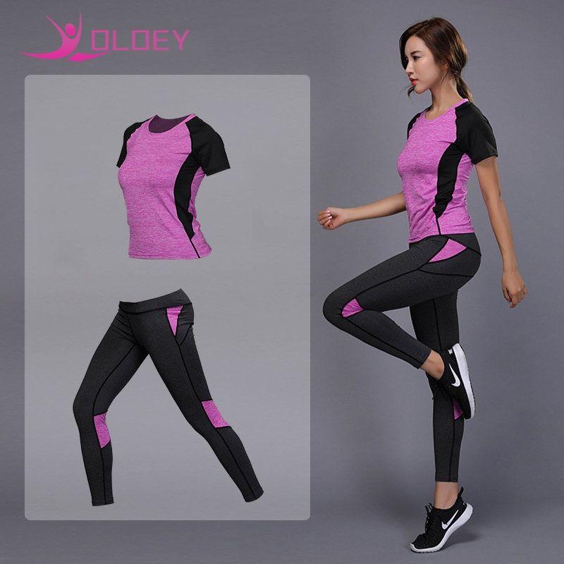 98e54fc6a1d OLOEY Women s Sportswear Yoga Set Fitness Gym Clothes Running Tennis ...