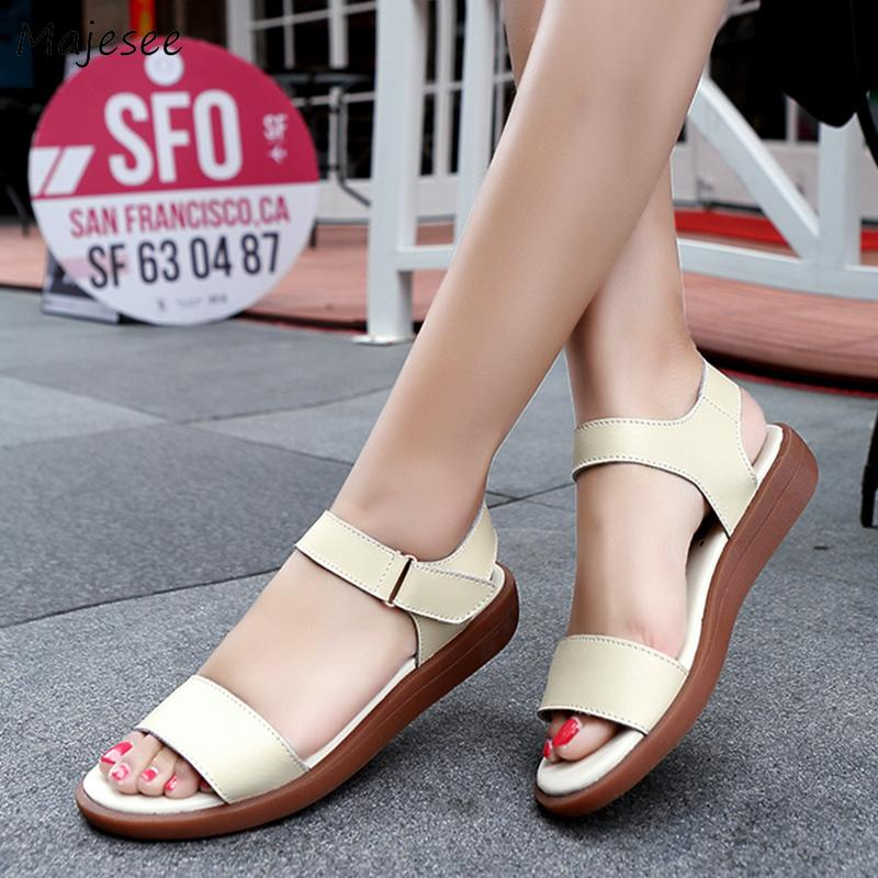 7ec645d4f213 Sandals Women Korean Style 2019 Summer New Flat With Non Slip Simple ...