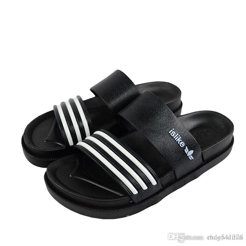 bf5411728 Sandals Men Fashion New Brand Mens Flip Flop Sandals Casual Slippers Black  White Summer Beach Sandals Men Shoes Breathable