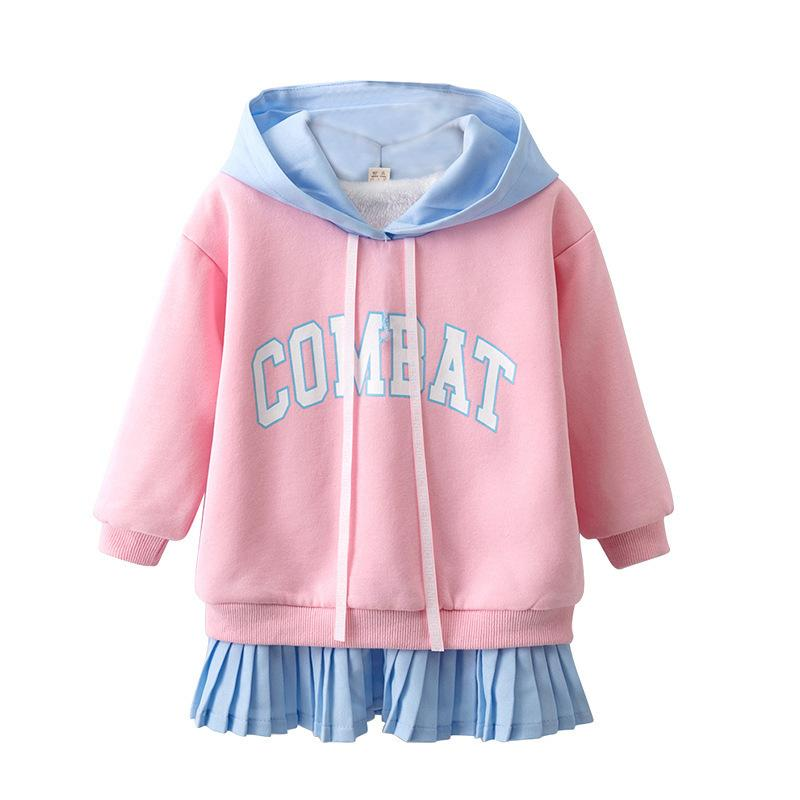 a99b4c25ed28 BibiCola Autumn Winter Hooded Coat For Girl Warm Clothes Children ...