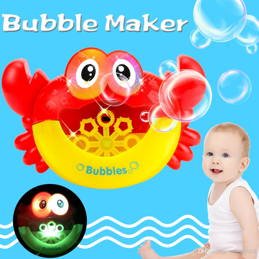 Baby Bath Toys Bubble Crabs Toys For Children Funny Bath Music Bubble Maker Bathtub Pool Swimming Soap Machine Kids Bathroom