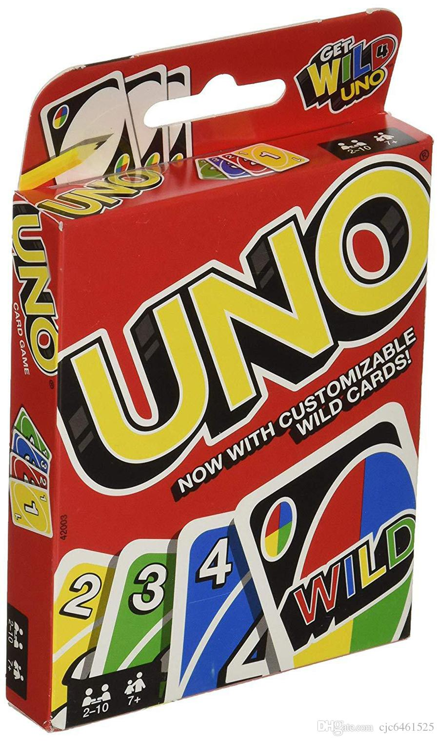 UNO Card Games Wild DOS Flip Edition Board Game 2-10 Players Gathering Game Party Fun Entertainment