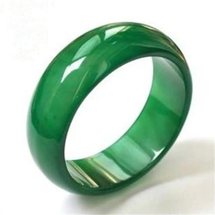 Juntao Jade Natural A Cargo Agate Jade Chalcedony Widened Ring Men and Women Fashion Ring Wrapper