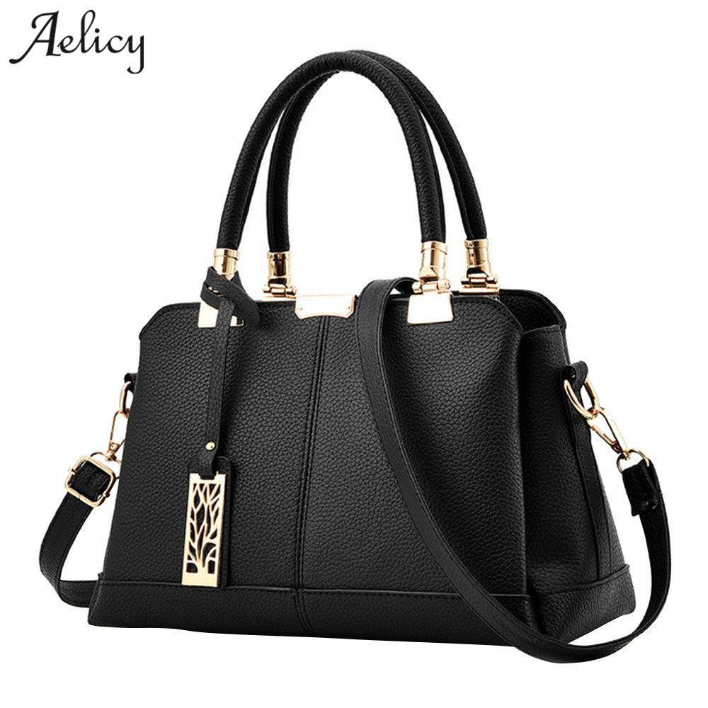 75cc630b3 Compre Aelicy PU Bolsas De Couro De Luxo Mulheres Sacos De Designer De  Bolsas Falsas 6 Cores Femininas Bolsa De Ombro Senhoras Top Handle Bag 1023  De ...