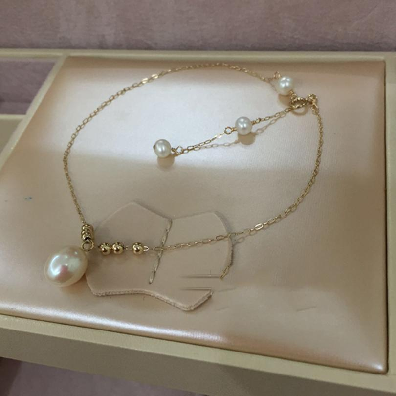 399f06960c762 2019 Newest Shine Layer Women Anklets 14K Gold Freshwater Pearl Ankle  Bracelet Summer Mujer Sandals Beach Tobilleras On Foot From Nothing2