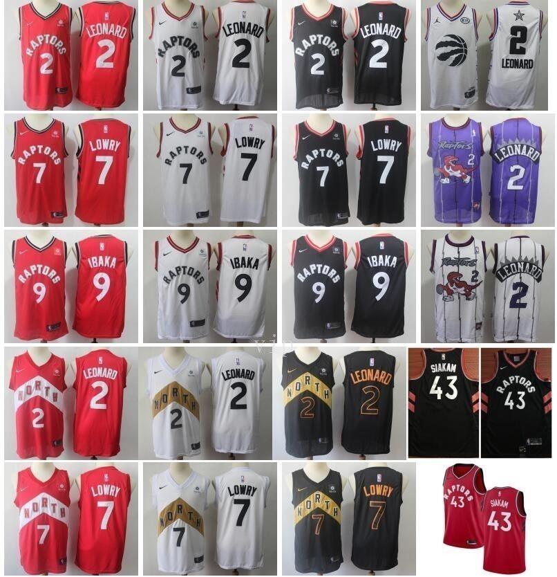 sale retailer 3dfc3 3b47f Toronto Basketball Raptors Pascal Siakam Jerseys 43 Kawhi Leonard 2 City  Earned Edition Kyle Lowry 7 Serge Ibaka 9 Red White Black