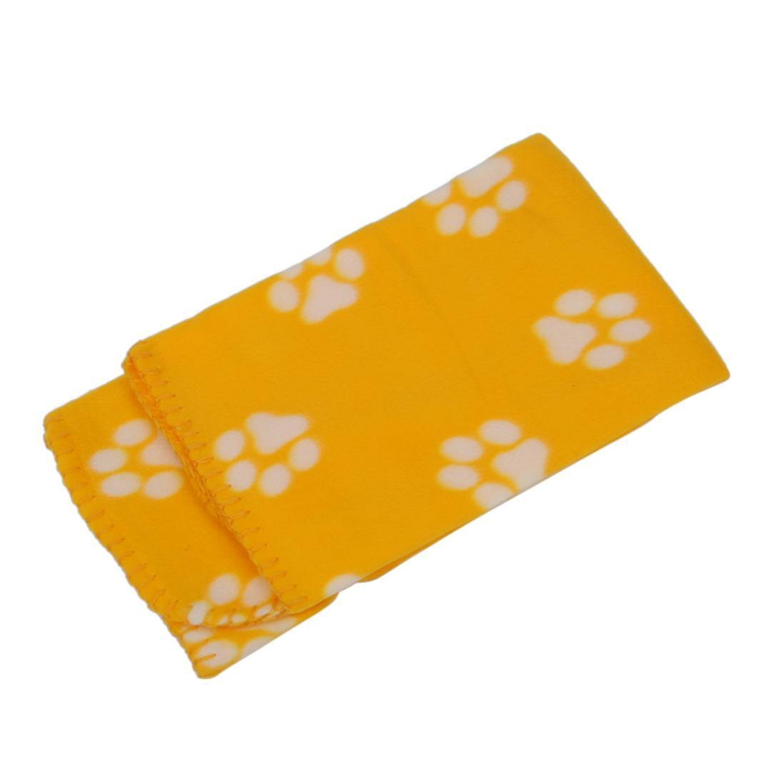 KSFS60*70cm Hot Cute Soft Cozy Warm Prints Pet Dog Cat Fleece Blanket Mat Bed
