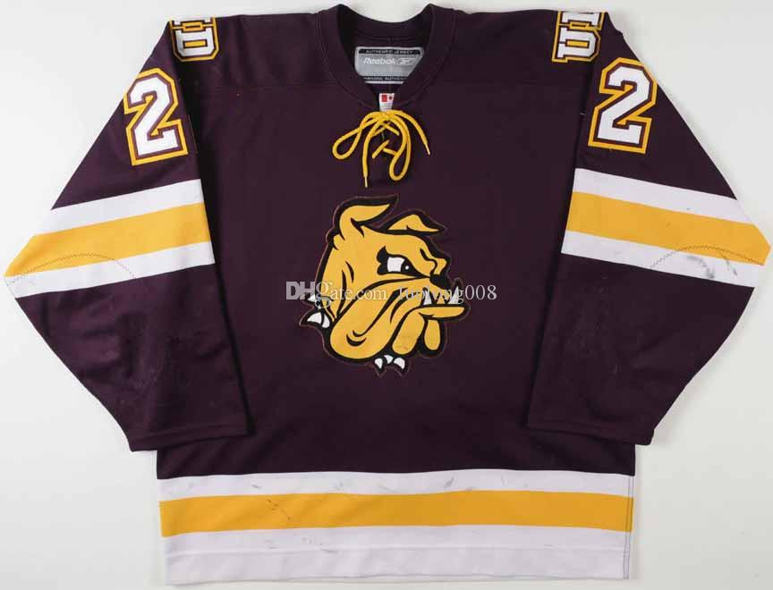 detailed look f771b e1320 Rare 2000's Travis Gawryletz U of Minnesota-Duluth Hockey Jersey Embroidery  Stitched Customize any number and name Jerseys