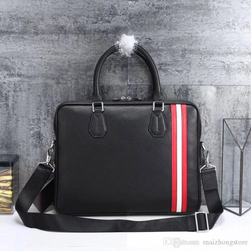 concepteur luxe bourse hommes sac à main d'affaires porte-documents sac à main en cuir sacs à main BALY de luxe véritable homme porte-documents sac